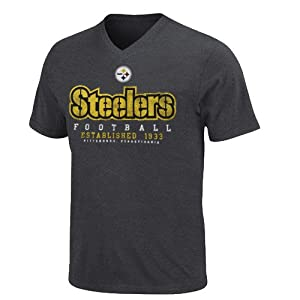 NFL Pittsburgh Steelers Depth Chart II T-Shirt - Charcoal at SteelerMania