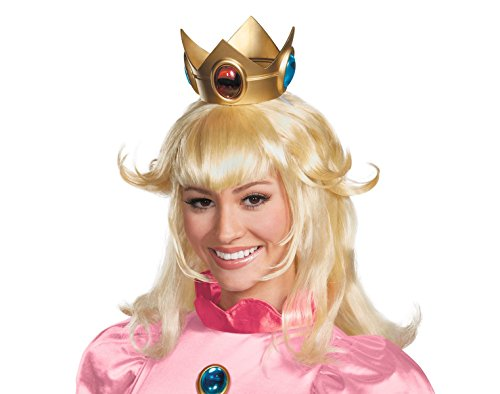 Princess Peach Wig Super Mario Bros Costume Accessory Adult Womens Blonde