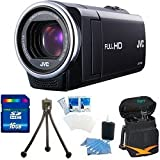 JVC GZ-E10BUS - HD Everio Camcorder 40x Zoom f1.8 (Black) 16 GB Memory Bundle
