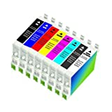 Set of 8 Inks for R800 R1800, Multi Combo 8-Pack Epson Compatible R800, R1800, Inkjet / Ink Cartridges (One each: T0540, T0541, T0542, T0543, T0544, T0547, T0548, T0549) for Epson Stylus Photo R800, R1800 Inkjet Printers Supplied by InkWorld