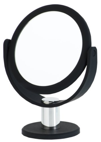 Danielle Enterprises 7X Magnification Vanity Mirror, Small Round Black
