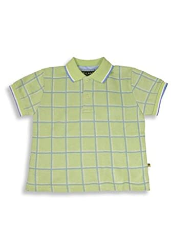 E-Land - Little Boys Short Sleeved Polo Shirt, Lime 8413-2T
