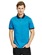 Autograph Slim Fit Pure Cotton Pindot Polo Shirt