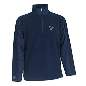 NFL Mens Houston Texans 3 4 Zip Fleece Pullover by Antigua
