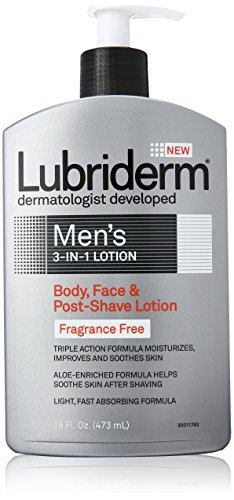 lubriderm-mens-3-in-1-body-face-post-shave-lotion-fragrance-free-by-jj-healthcare