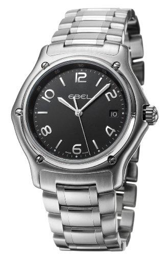 Ebel - 1911 - 9187251-15567 - Montre Homme - Acier - Quartz Analogique - Cadran Noir - Dateur - Bracelet Acier