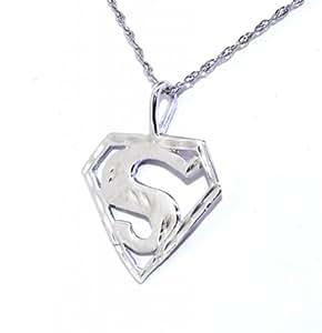 14k white gold superman charm jewelry