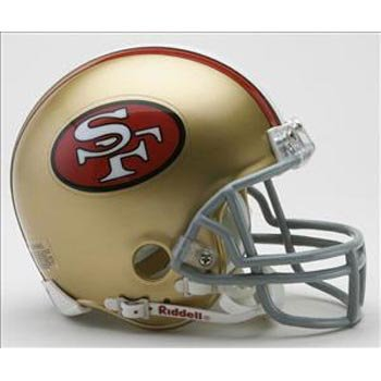 San Francisco 49ers 1964-95 Throwback Replica Mini Helmet at Amazon.com