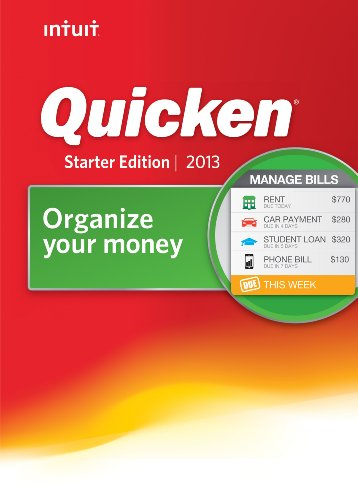 Quicken Starter Edition 2013 [Download]