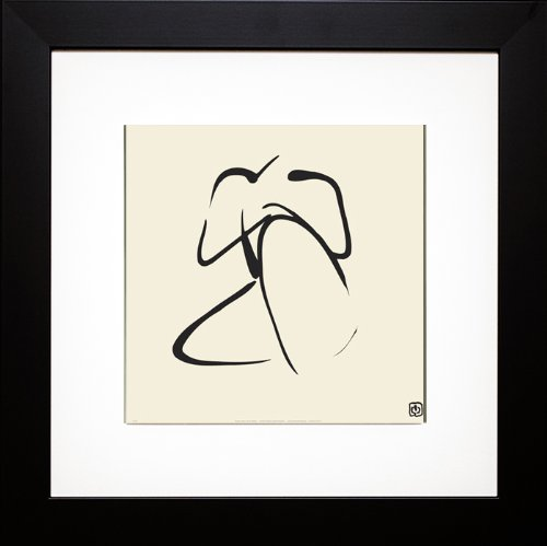 Female, Pose 2 (Nude Figure) Framed Art Print with Mat 22 X 22 By Ty Wilson