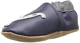 Robeez Dylan Soft Sole Crib Shoe (Infant), Navy, 6-12 Months M US