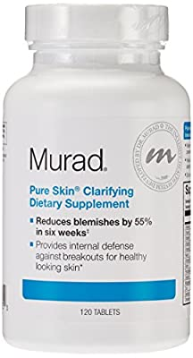 Murad Pure Skin Clarifying Dietary Supplement, Tablets, 120 tablets