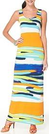 London Times Brushstrokes Maxi Dress