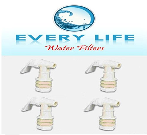 Check Out This Plastic Faucet 4-pack, White, Spigot, 3/4 Inch, Water Beverage Dispenser, Gravity Fee...