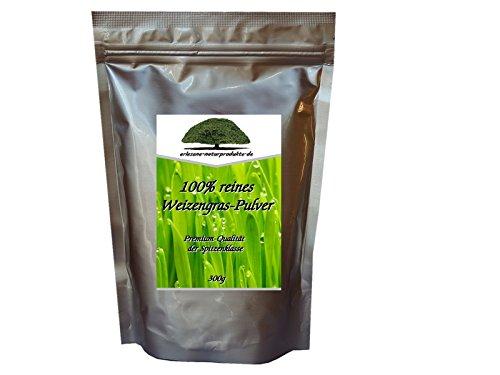 Weizengras Pulver 300g 100% natürlich und vegan /enthält über 90 Mineralstoffe von erlesene-naturprodukte.de