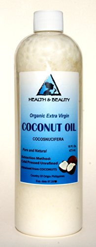 Coconut Oil Extra Virgin Organic Pure Cold Pressed Unrefined Raw 64 Oz