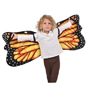 Monarch Butterfly Plush Costume Wings by Adventure Kids: One Size Fits Most with 44 inch Wingspan by Adventure Kids