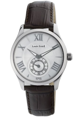 Louis Erard Men's 47207AA21.BDCL21 1931 Automatic Silver Dial Brown Leather Watch