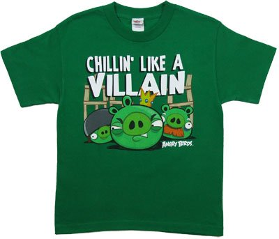 Cheap Angry Birds Villain Youth T-shirt