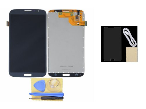 Blue Lcd Touch Digitizer Screen Lens Assembly+Protector+Usb Cable For Samsung Galaxy Mega 6.3 I9200 I9205