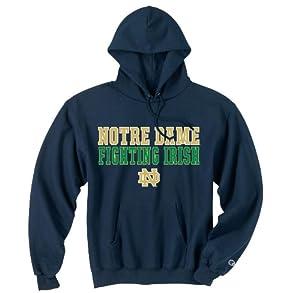 Notre Dame Fighting Irish Mens Hooded Sweatshirt Navy by Champion