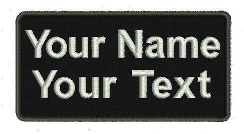Big Save! 2 Lines , Jumbo, Custom Name Tape with Velcro Backing / Personalized Military Name Tapes ,...
