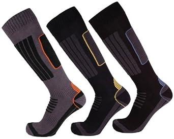 interWear Herren Skisocken, COOLMAX, Farbe: grau schwarz orange, Größe: 39-42, --- NEU ---, UPE: 14.99 Euro