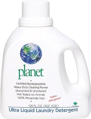 Planet Ultra Liquid Laundry Detergent, 100 Fluid-Ounce Bottles