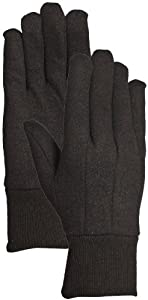 Bellingham Glove Brown Jersey 9-Ounce Poly-Cotton Blend Gloves, Large