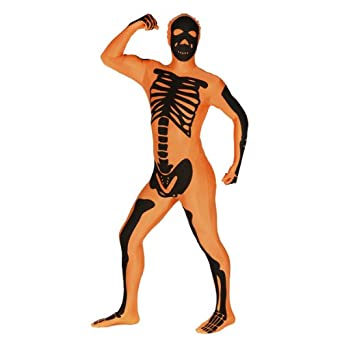 Morphsuits Men's Skeleton Orange Adult
