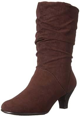 Aerosoles Women's Wise N Shine Slouch Boot,Dark Brown Combo,5 M US
