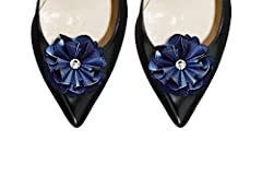 Absolutely Audrey Calista Navy Shoe Clips