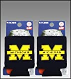 SET OF 2 MICHIGAN WOLVERINES CAN KADDY KOOZIES at Amazon.com