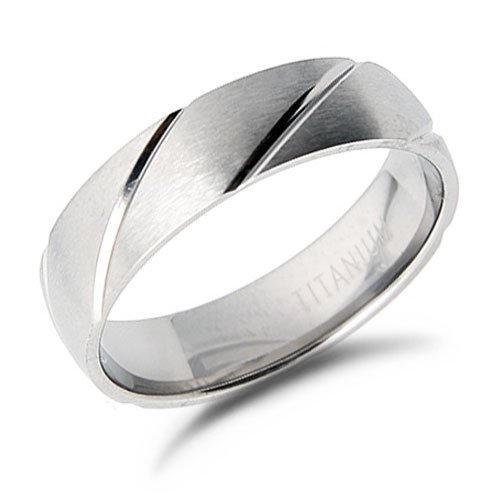 Men's Titanium Wedding Ring Band, 9.5