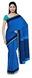 Tangail Tantujibi Unnayan Samabay Samity Ltd Women's Cotton Saree (Sky blue)