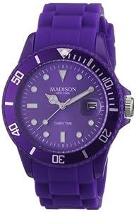 Madison New York Unisex-Armbanduhr Candy Time Analog Silikon lila U4167-01/2