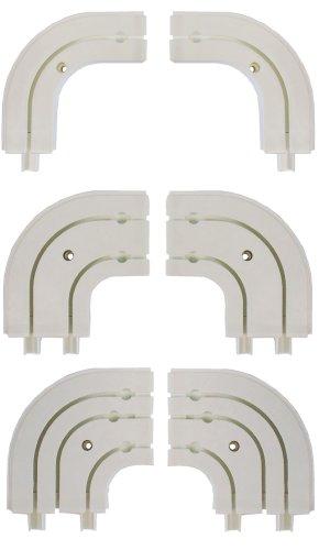 garduna rundbogen f r gardinenschienen vorhangschienen 2 lauf paar weiss 2 l ufig. Black Bedroom Furniture Sets. Home Design Ideas