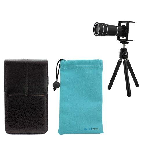 GTMax Universal 10X Optical Zoom Telescope + Tripod Stand + Vertical Case + Blue Microfiber Case for HTC Evo 4G,Sensation 4G,EVO 3D,Inspire 4G (Desire HD),ThunderBolt,Desire HD,Merge CDMA G2; BlackBerry Torch 9860 (Monza 9860),9850; Huawei Impulse 4G