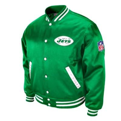 NFL New York Jets Satin Screen Pass Throwback Jacket Mitchell & Ness XL XLG LG at Amazon.com