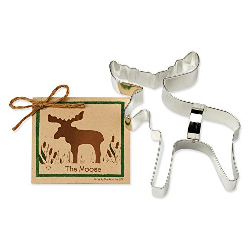 Ann Clark Moose Cookie Cutter - 6.3 Inches - Tin Plated Steel