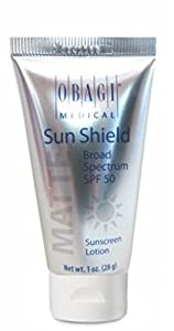Obagi Medical Sun Shield Broad Spectrum SPF 50 Matte Sunscreen Lotion, White, 1 Fluid Ounce