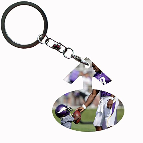 Generic High Quality Key Ring Pc Card Style Adrian Peterson On It