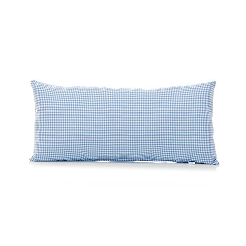 Glenna Jean Starlight Rectangular Bolster Pillow, Blue Gingham/White