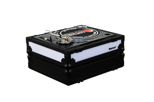 Odyssey Ffx2Lbm1200Bl Flight Fx2 Series Battle Position Technics 1200 Style Turntable Case With Front And Left Side Led Panel
