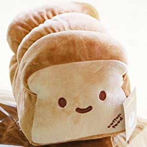 Cute Bread Loaf Pillow : Amazon.com: New Decorative Small ver. Dual Face Bread Plush Cushion Pillow 10