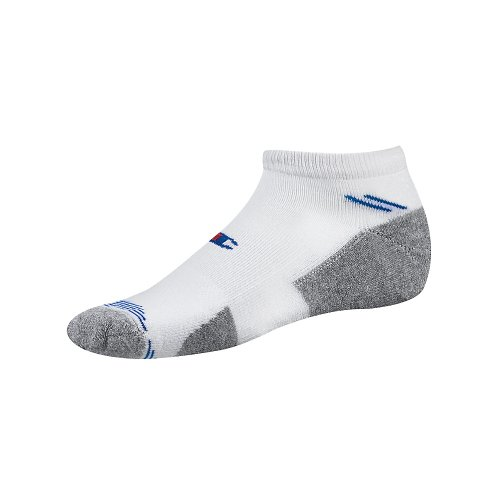Champion Double Dry High Performance Low-Cut Men's Athletic Socks CH205, White