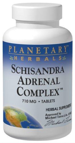 Planetary Herbals Schizandra Adrenal Complex Tablets, 710 mg