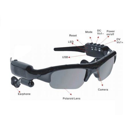 Koolertron(TM) Mini DV DVR SPY Sun Glasses Camera +MP3 Audio Video Recorder