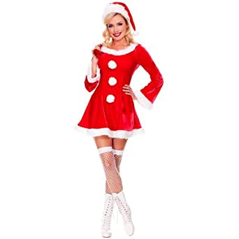 Music Legs Women's Plus Size Sleigh Hottie Santa Costume