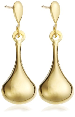 9ct Yellow Gold Y Bell Shaped Drop Post Earrings